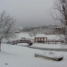 Hó borítja a szigetet és a sóhajok hídját